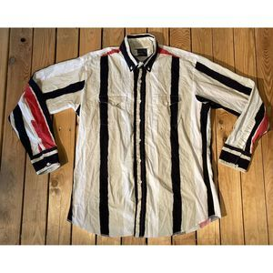 VTG PANHANDLE SLIM Men's Stripe Button Up Shirt XL